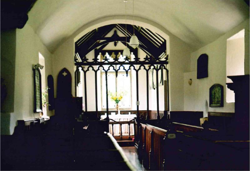 inside oare church