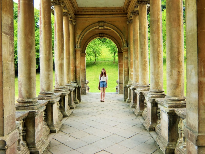 on the palladian bridge at prior park